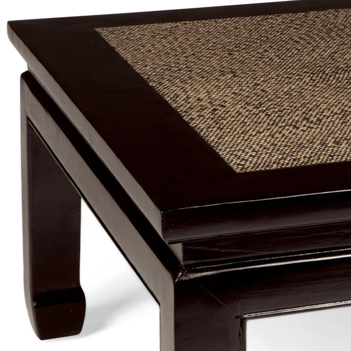 Square Daybed Table, Black Lacquer