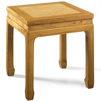 Square Stool, Light Elm