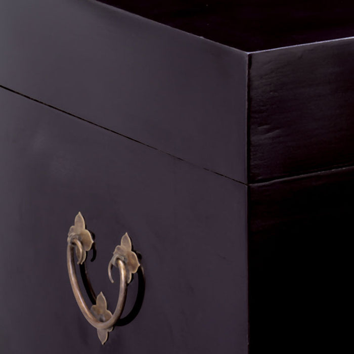 Square Trunk, Black Lacquer