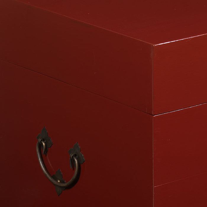 Square Trunk, Red Lacquer
