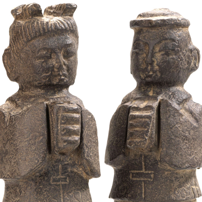 Carved Stone Children Figures