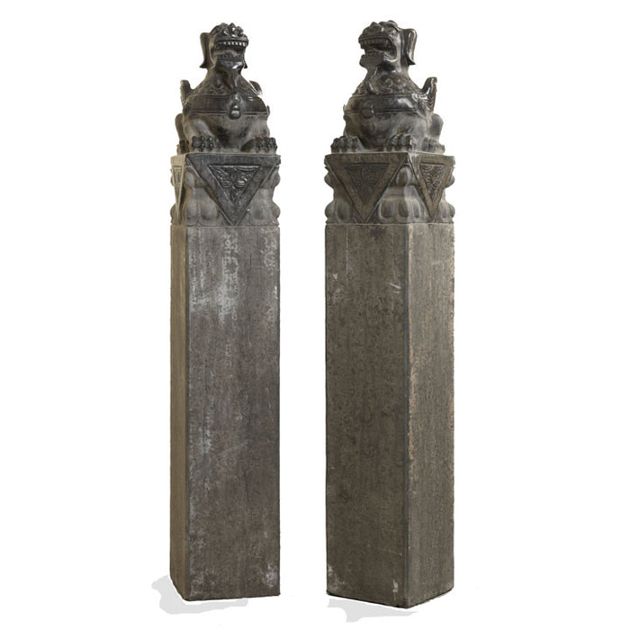 Chinese Stone Dragon Columns