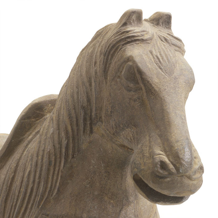 Pair of Horses in Carved Stone