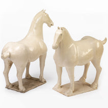 Cream Ceramic Tang Horse