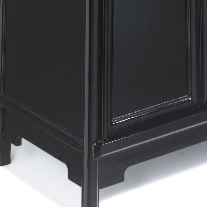 Tapered Cabinet, Black Lacquer