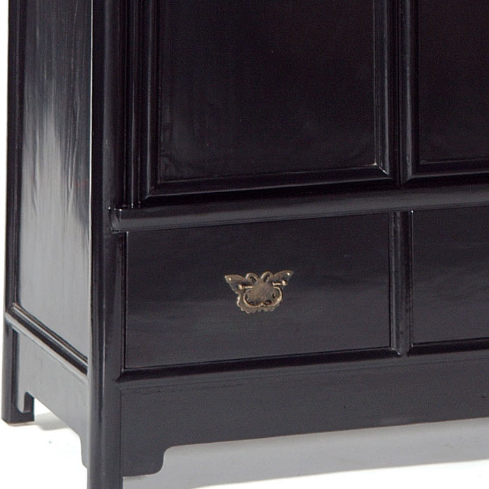 Large Tapered Cabinet, Black Lacquer