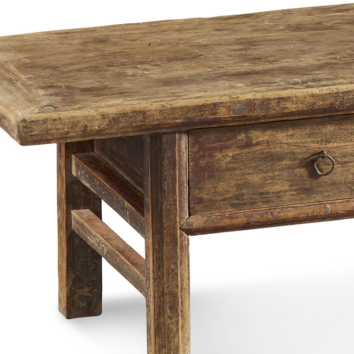 Low Three Drawer Elm Table