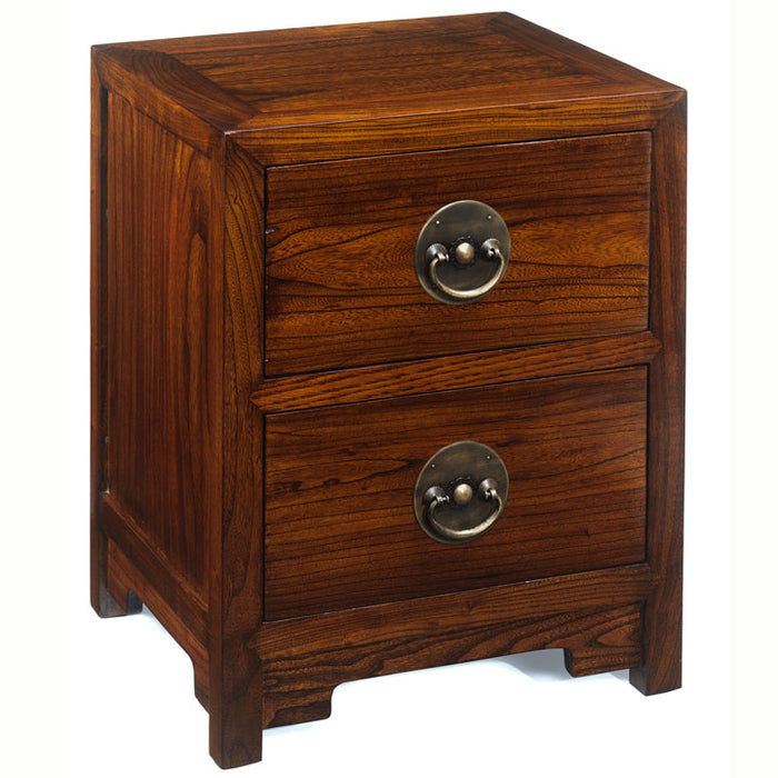 Ming Two Drawer Chest, Warm Elm