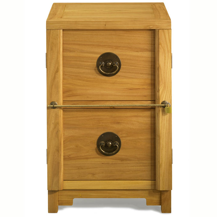 Two Drawer Filing Cabinet, Light Elm