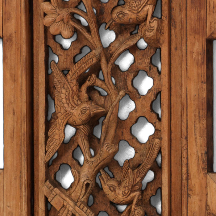 Carved Antique Panel with Birds