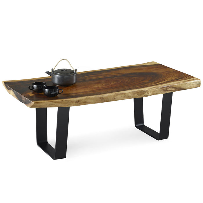 Walnut Slab Top Coffee Table