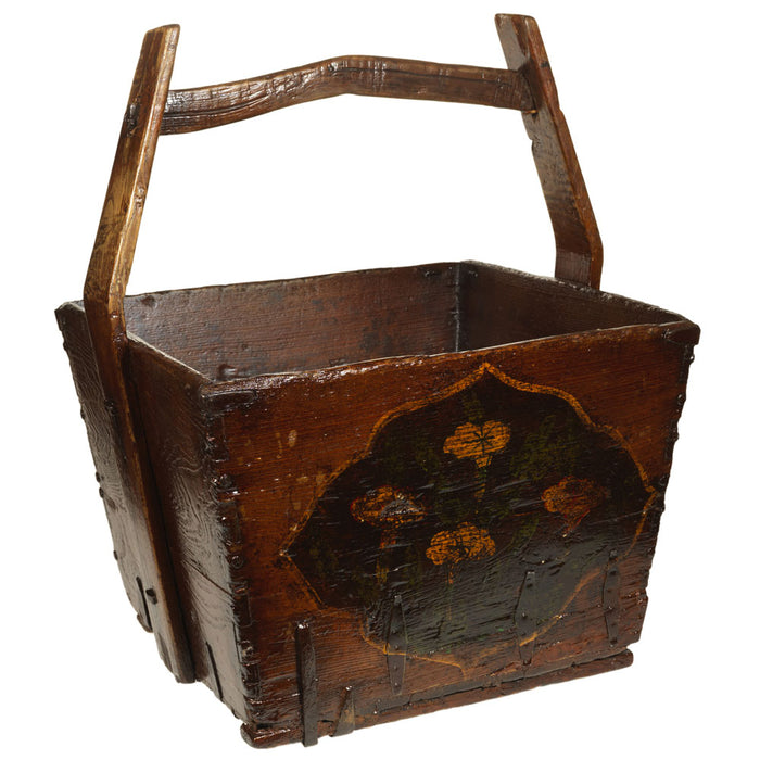 Painted Chinese Wooden Bucket