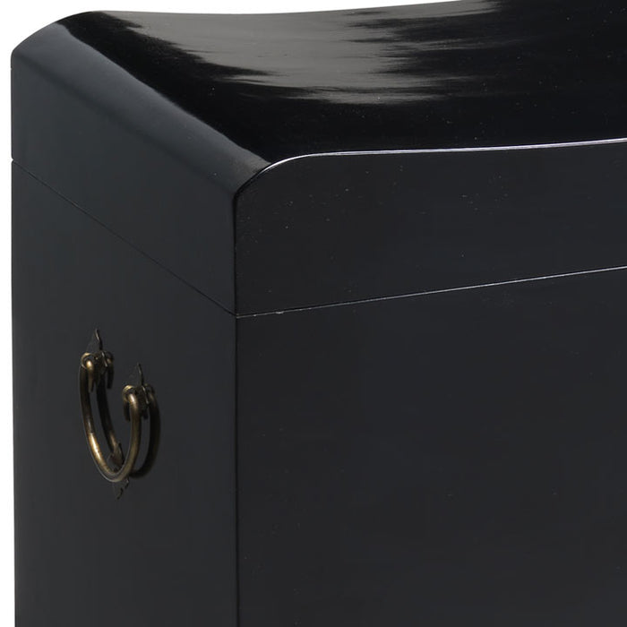 Wave Trunk, Black Lacquer, Clearance Item