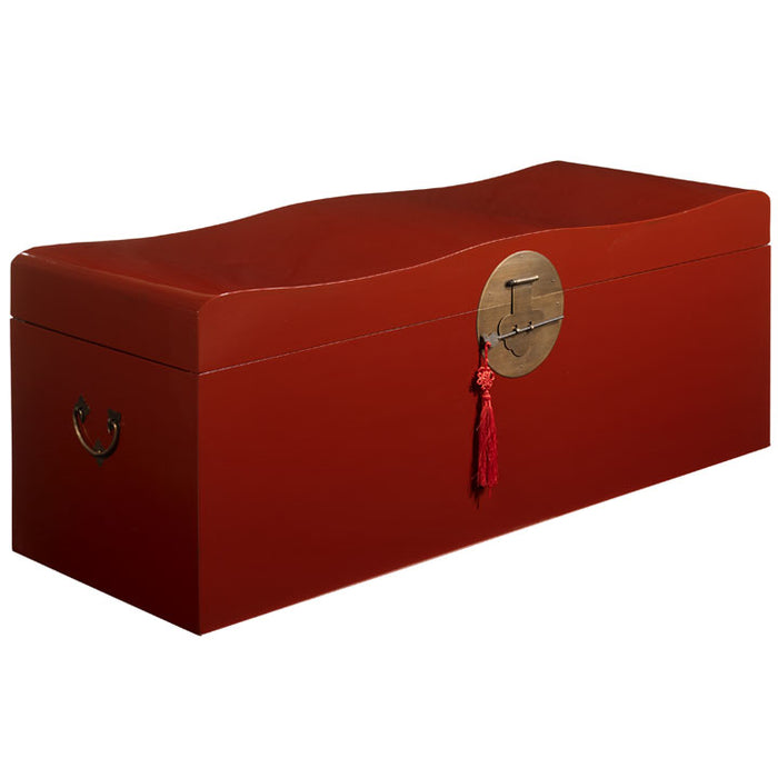 Wave Trunk, Red Lacquer, Clearance Item