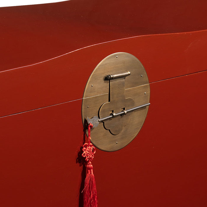 Wave Trunk, Red Lacquer