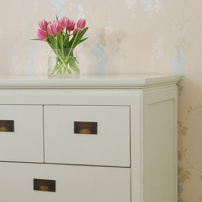 White Lacquer Oriental Chest of Drawers