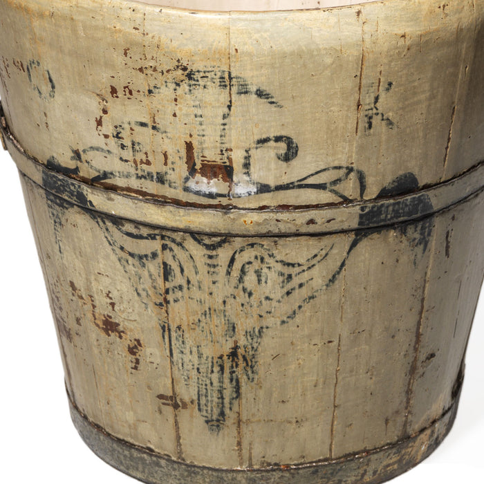 Small Chinese Wooden Wine Bucket