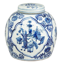 Ginger Jar, Blue and White, Curios