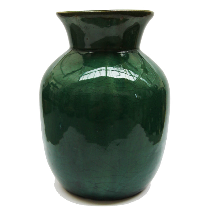 Green Ceramic Wide Vase