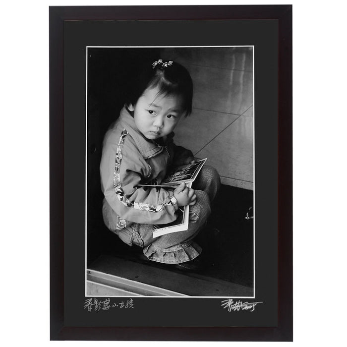 Framed Print - 'Girl with Photo Album'