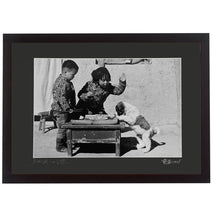 Framed Print - 'Farm Children at Lunch'