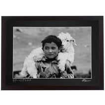 Framed Print - 'Kazakh Shepherd Boy'