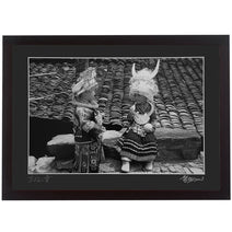 Framed Print - 'Miao Children in Traditional Dress'