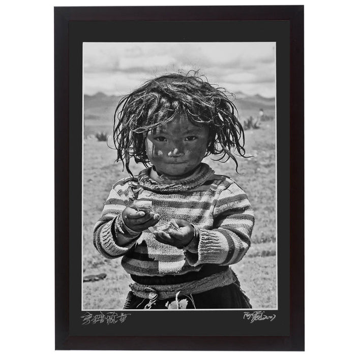 Framed Print - 'Tibetan Child with Sweets'