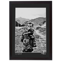 Framed Print - 'Tibetan Girl in Floral Dress'