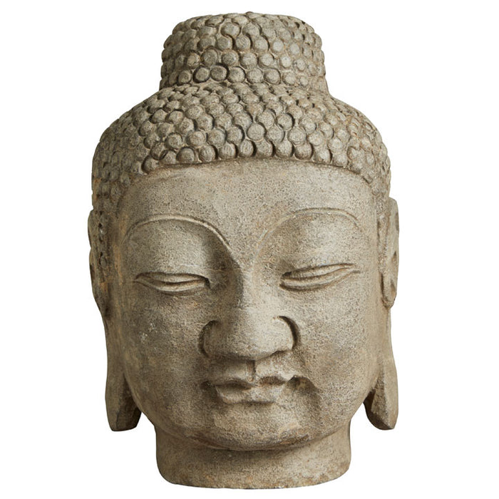 Large Carved Stone Buddha Head