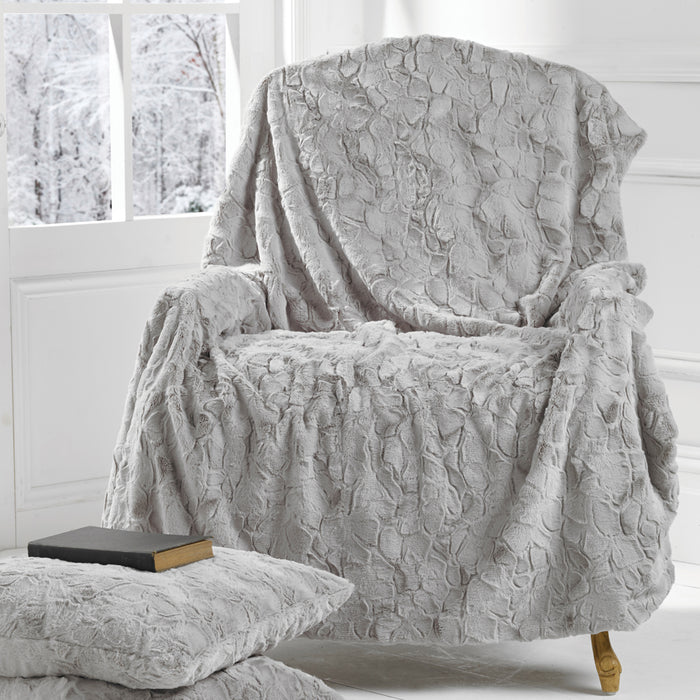 Marilyn Throw, Pale Grey