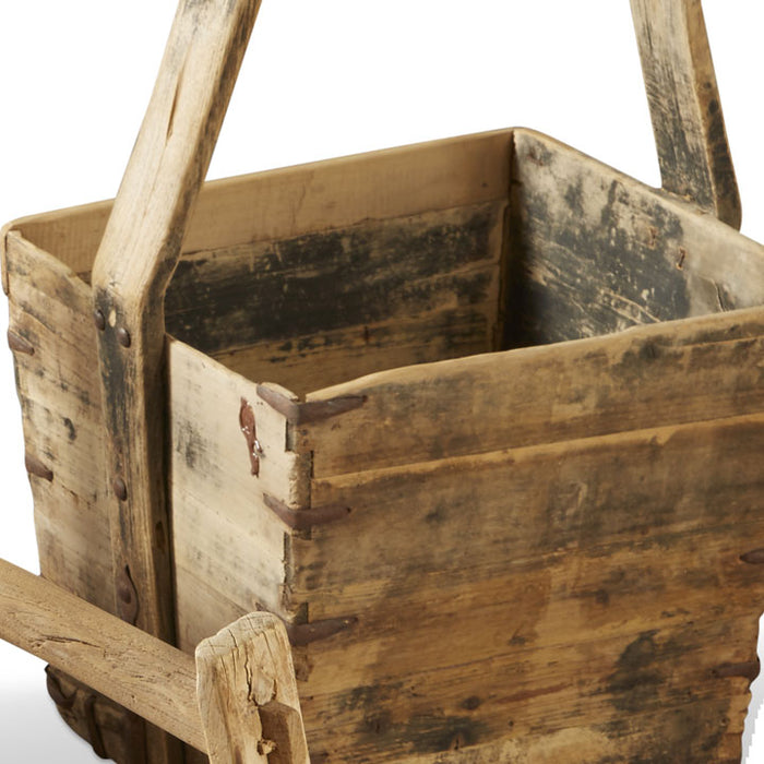 Wooden Bucket, Natural Finish