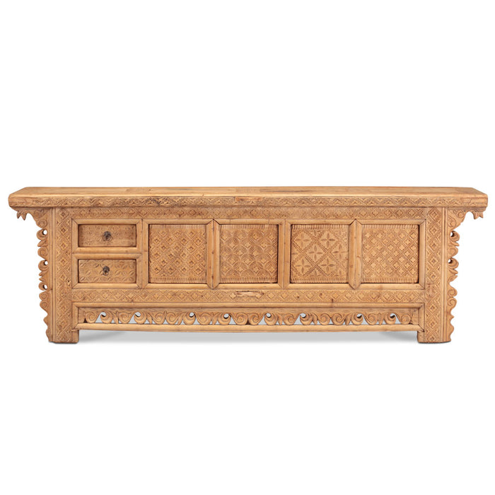 Large Carved Xinjiang Antique Sideboard