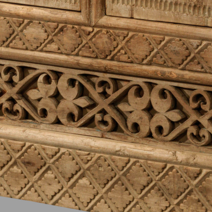 Carved Six Drawer Xinjiang Sideboard