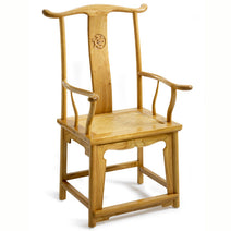 Yoke-Back Armchair, Light Elm
