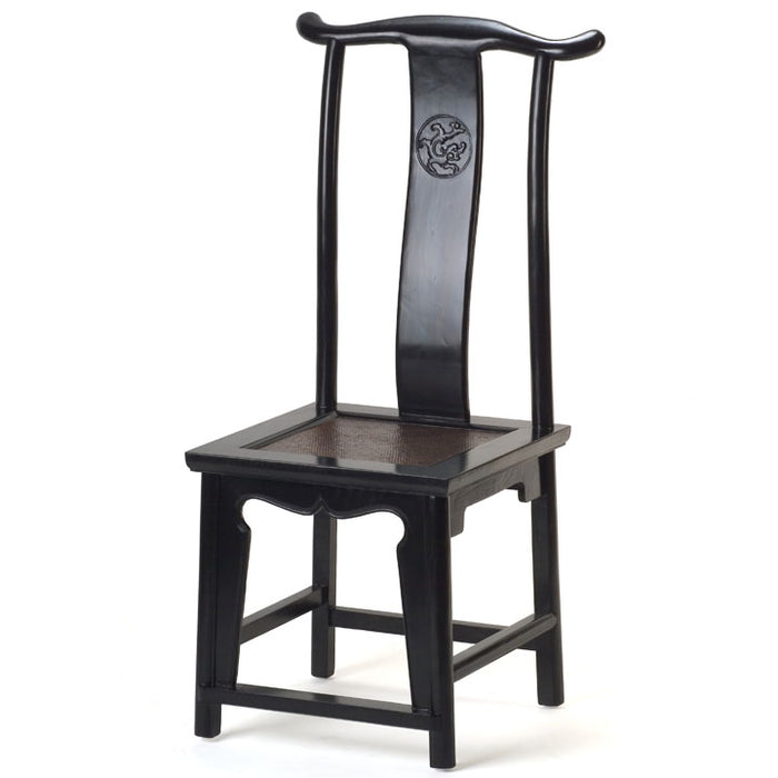 Yoke-Back Side Chair, Black Lacquer, Ex Display