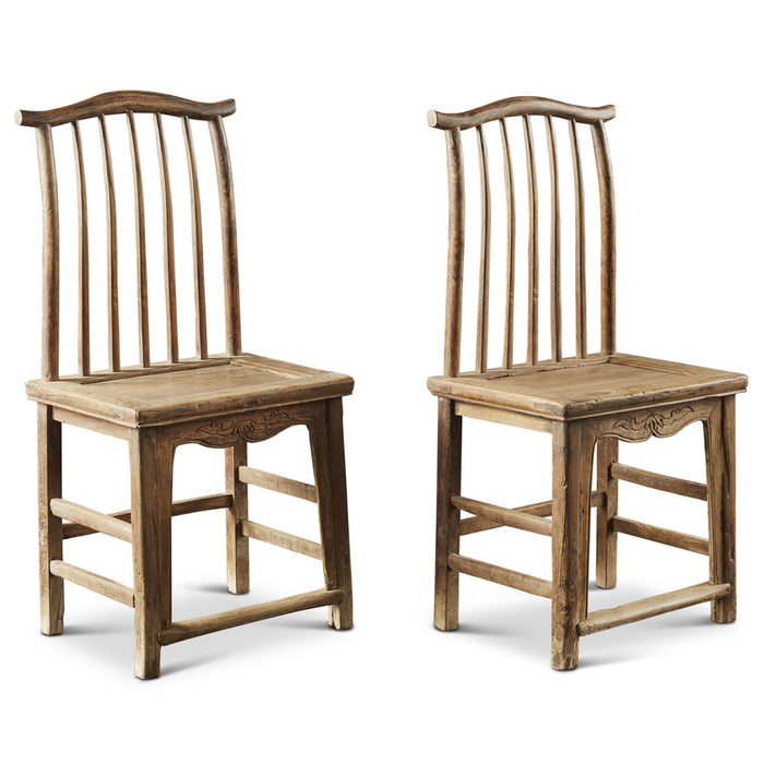 Antique Chinese Yoke Back Chairs in Jumu Wood