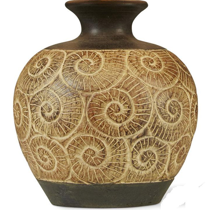 Ammonite Lamp, Earth Brown