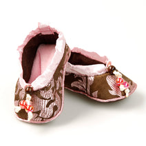 Silk Baby Shoes, Pink