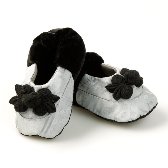 Silk Baby Shoes, Silver