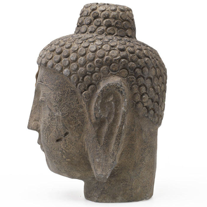 Buddha Head in Carved Stone