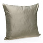 Silk Cushion, Golden Taupe
