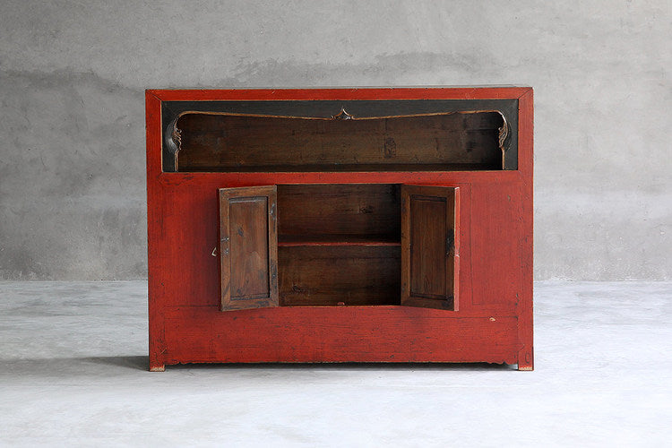 Qinghai Red and Black Display Cabinet