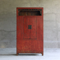 Qinghai Armoire in Cinnabar Red