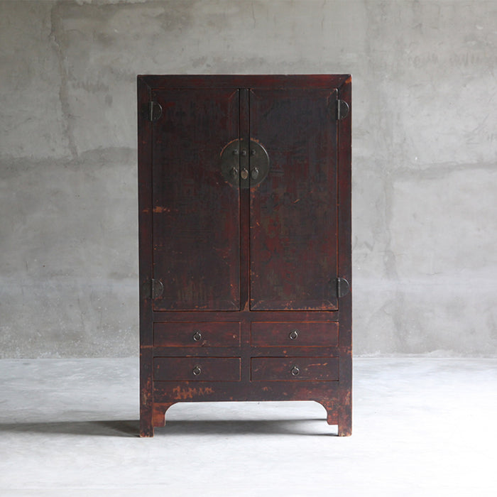 Large Painted Beijing Cabinet