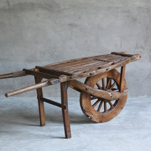 Antique Elm Wheelbarrow