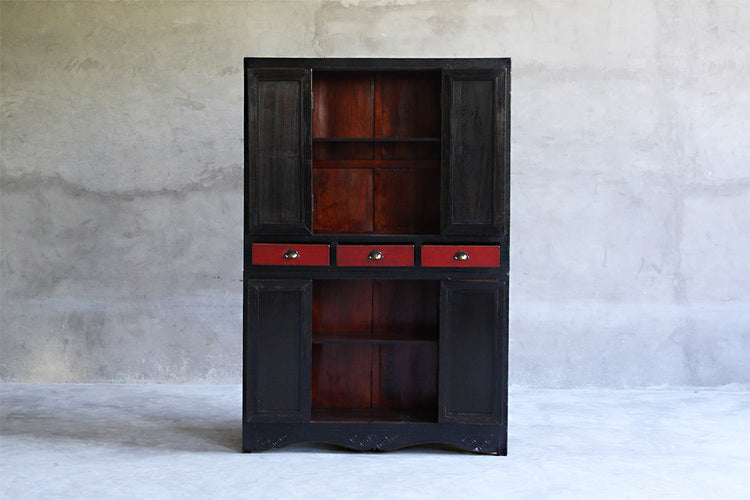 Shanxi Painted Black and White Armoire