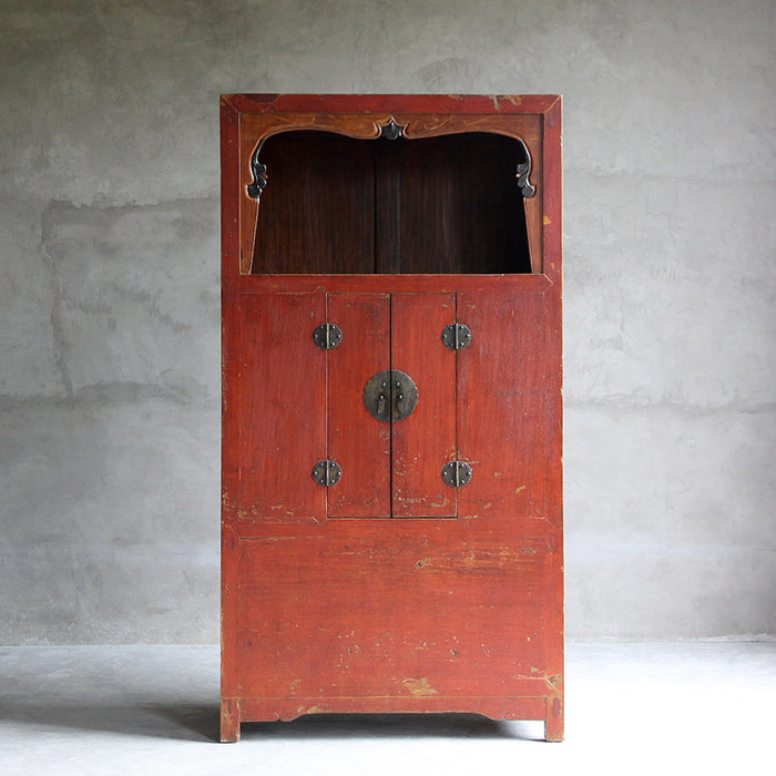 Red Lacquer Wanli Armoire