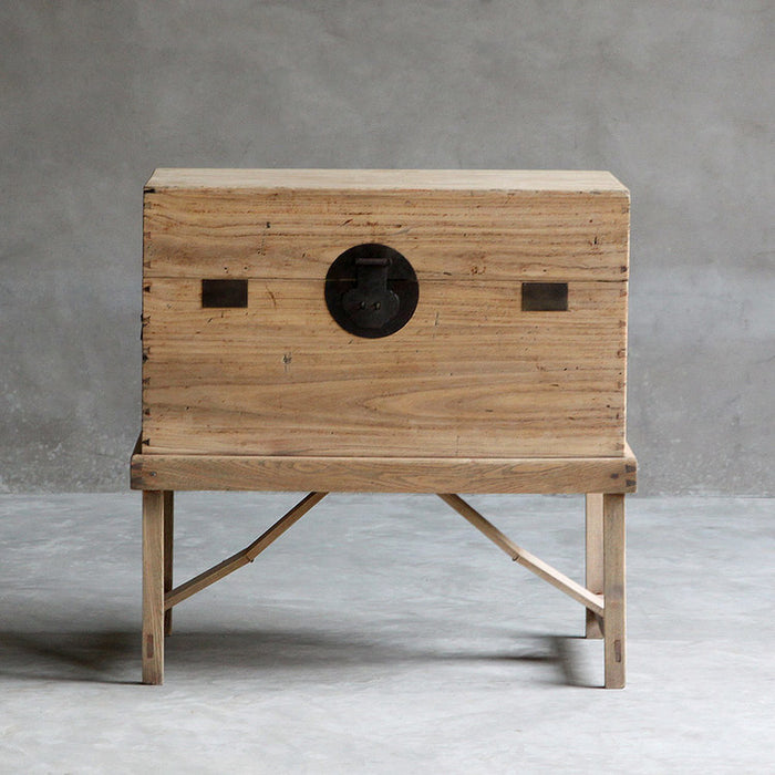 Elm Blanket Chest on Stand