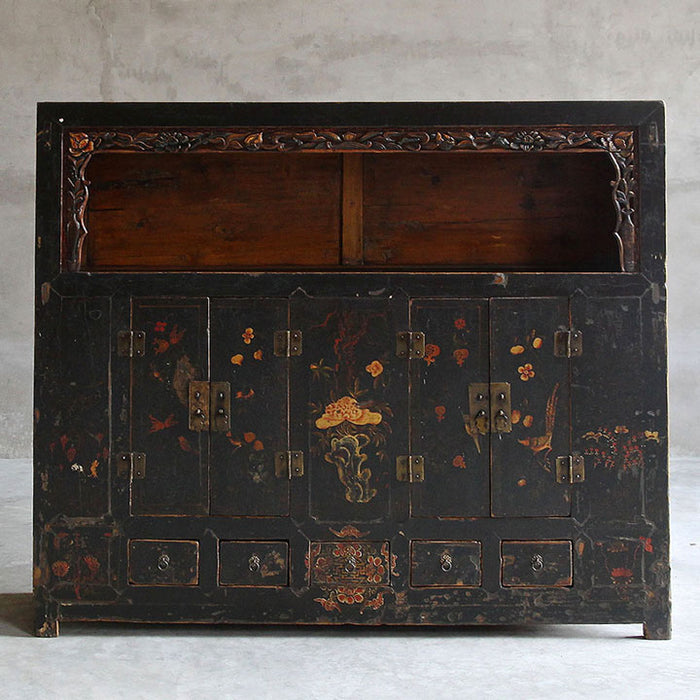 Qinghai Display Cabinet, Black Lacquer